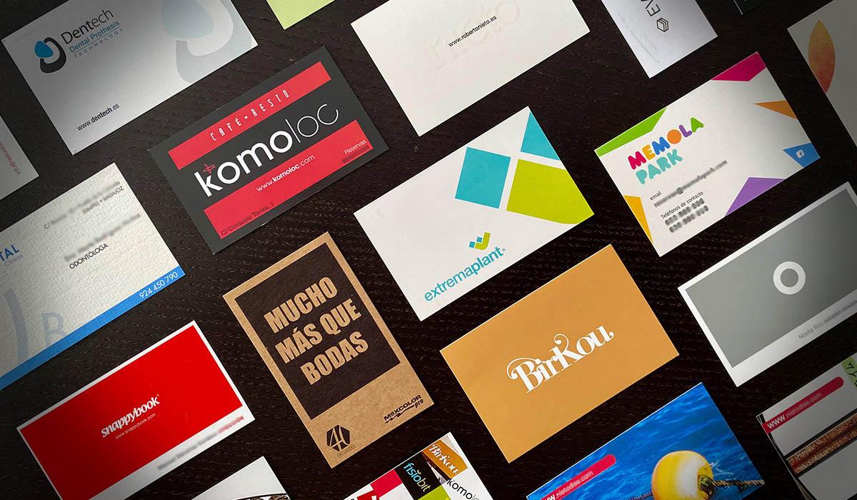 tipos de tarjeta de visita para empresa
